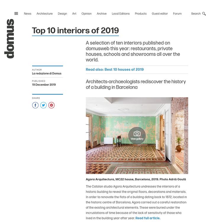 Domus Top Ten 2019