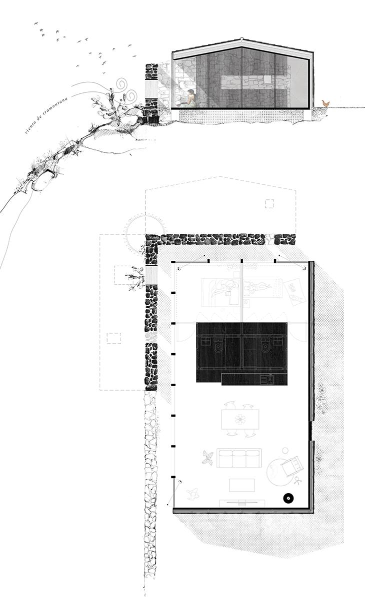 planta y seccion